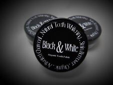 Activated charcoal natural teeth polish by Black & White Organics- sample jar x2