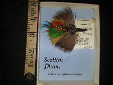 REAL SCOTTISH PLUME Vintage Colourful Craftmade Feather Brooch