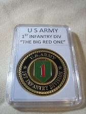 """US ARMY 1st INFANTRY DIVISION  """"THE BIG RED ONE"""" Challenge Coin"""