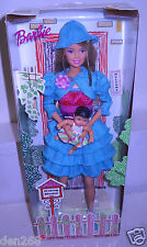 #1642 NRFB Mattel White Swan Hotel Going Home Adoption #5 Barbie in Blue