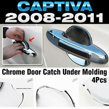 Chrome Door Catch Handle Under Molding Cover trim for CHEVROLET 2006-17 Captiva