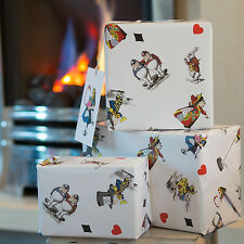 Alice In Wonderland Wrapping Paper Gift Wrap with Mad Hatter, Alice and Rabbit