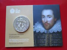 The Shakespeare 2016 £50 Coin UK 999 Fine Silver Fifty Pound Coin Mint Condition