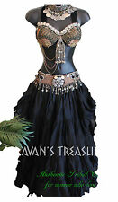 Black 35 Yd  Skirt Gypsy Tribal Fusion Belly Dance ATS