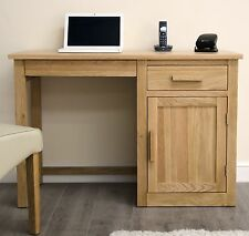 Arden small office PC computer desk solid oak furniture with keyboard drawer