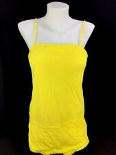 Vintage 1950s Ladies One Piece PINUP Swimsuit Yellow Terry Cloth Solid 38