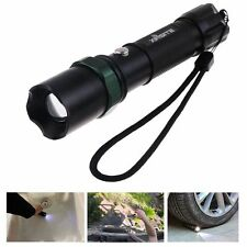 Zoomable 500LM 3Mode CREE LED Tactical Flashlight Torch Lamp Light+Safety Hammer