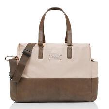 New Babymel Storksak Designer Millie Fawn Colorblock Changing Diaper Bag 3pc Set