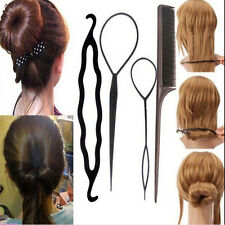 4PCS New Fashion Hair Twist Styling Clip Stick Bun Maker Braid Tool Hair Access