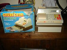 Vintage Casdon Electronic chubb cash register Plastic Toy in Box