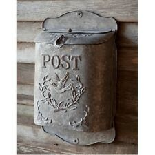 Shabby Cottage Style Metal Bird Mailbox Letter Wall Mount French Postbox