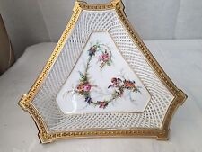 Antique Limoges porcelain Angel cherub lace centerpiece bowl Sevres style