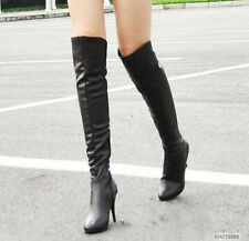 New Fashion Women's Sexy High Heel Boots Knee High  Shoes US ALL Size YB062