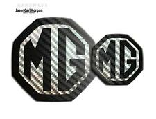 MG ZR LE500 MK2 Front & Rear Insert Badge Logo Set 59mm/95mm Styled Black Carbon