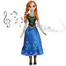 "NEW DISNEY STORE FROZEN ANNA SINGING DOLL SINGS FOR THE FIRST TIME 16"" LIGHTS UP"