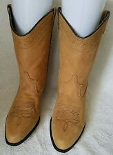 Capezio Tan Brushed Leather  Western Cowgirl Boots Womans Ladies Size 10 M