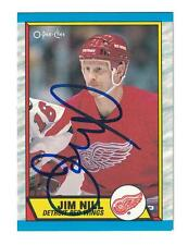 Jim Nill AUTOGRAPH 1989-90 O-PEE-CHEE HOCKEY CARD SIGNED DETROIT RED WINGS