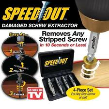 Speed Out 4pc Damaged Screw Extractor Use With Any Drill SpeedOut As Seen On TV