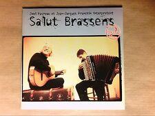 RARE CD PROMO 15 TITRES / JOEL FAVREAU & JJ FRANCHIN / SALUT BRASSENS / TB ETAT