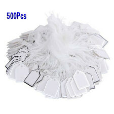 500X Price tags with strings Hanging Rings Sale Display White Silver YM