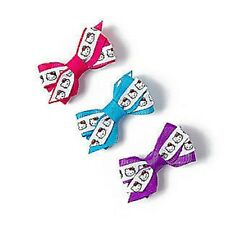 Hello Kitty Ribbon Hair Bow Hair Clips Sanrio Blue Purple Set of 3 NWT