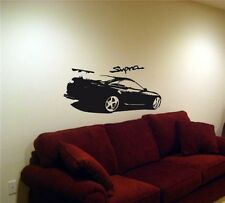 TOYOTA SUPRA Racing Drifting Wall Art Sticker Decal 021
