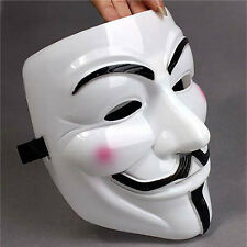 High V for Vendetta Anonymous Film Guy Fawkes Face Mask Fancy Halloween Cosplay