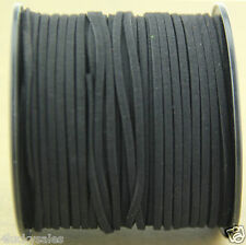 10yd 3mm black Suede Leather String Jewelry Making Thread Cords hot