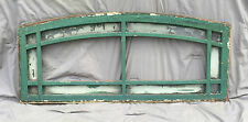 12 Lite Antique Entryway Transom Window Sash Semi Arched Top Old Vtg 912-16