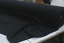 BLACK POLY/COTTON BRUSHED FLEECE FABRIC : #F302BK SELLING BY THE 1/2 METRE