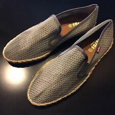VERAS BLUE GREY SLIP ONS ESPADRILLES SHOES IN MENS SIZE 44/10.5 NEW