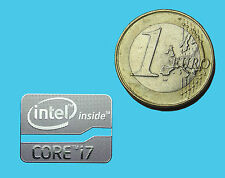 INTEL CORE i7  METALISSED CHROME EFFECT STICKER AUFKLEBER 21x16mm [355]