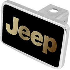 New Jeep Gold Logo Tow Hitch Cover Plug