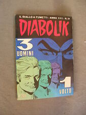 DIABOLIK ORIGINALE ANNO XVII n° 21 - 1978 - RARO - OTTIMO