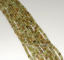 2MM GREEN GARNET GEMSTONE GREEN FACETED ROUND 2MM LOOSE BEADS 15.5""
