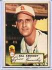 1952 Topps Baseball Card Bill Kennedy Pitcher R/B St Louis Browns Ex # 102