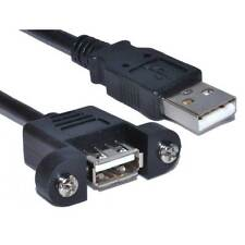 0.5m USB 2.0 Panel Mount Female A Socket to A Plug Cable 50cm [006596]