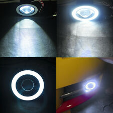 "2x 2.5"" Car COB LED Fog Light Projector White Angel Eye Halo Ring Driving Bulbs"