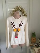 Authentic Moschino Wool Reindeer Sweater Jumper Size 8-10 RRP$1450