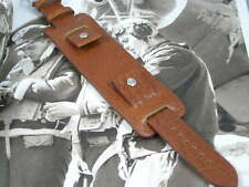 SUPERB LEATHER BUND WATCH STRAP FOR VINTAGE MILITARY PILOT AVIATOR WATCHES