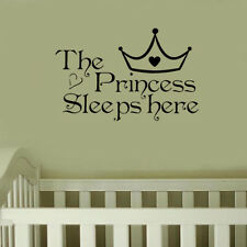 Wall Sticker Bedroom The Princess Sleeps Here Decorative Removable Decoration