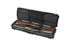 Black SKB Double Rifle Case. With foam.  Includes Pelican TSA- 1750 lock