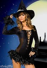 Ladies/Girls Halloween Harry Potter Sorceress Witch Costume Size 10/12