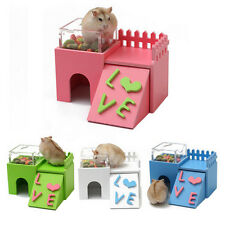Multifunctional Hamster Squirrel Mouse Rat Wooden Gym Playground Exercise Toy