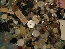 antique and vintage mixed lot buttons 2lbs.