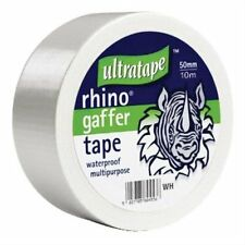 Ultratape RHINO Gaffer Duct Waterproof Multi Purpose WHITE Cloth Tape 50mm/10m