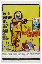 THE EARTH DIES SCREAMING SCI-FI MOVIE POSTER 12X18