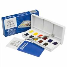 Winsor and newton cotman aquarelle set sketchers pocket box 12 demi-casseroles