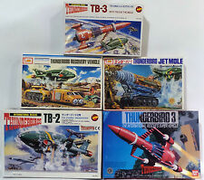 THUNDERBIRDS : SET OF 5  MODELS KITS FROM BOTH IMAI & BAN DAI