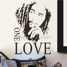 BOB MARLEY One Love Mural Removable Decal Room Wall Sticker Vinyl Art Decor DIY